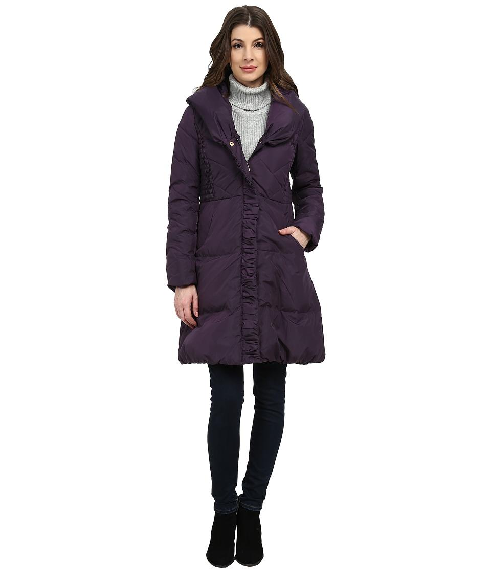 Via Spiga - Pillow Collar Down (Purple Dusk) Women's Coat
