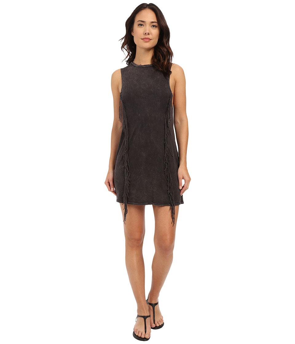 Billabong - Fringe with Me Dress (Off Black) Women's Dress