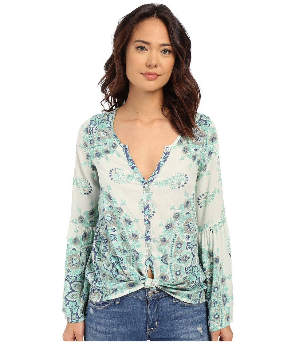 Billabong - Silver Bloom Top (Washed Jade) Women's Blouse