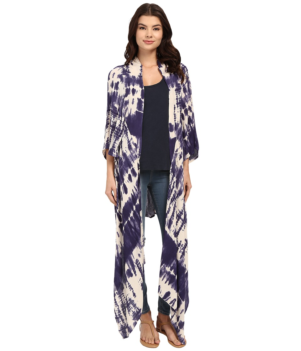 Billabong - Always A Dreamer Kimono (Blue Cruz) Women's Clothing