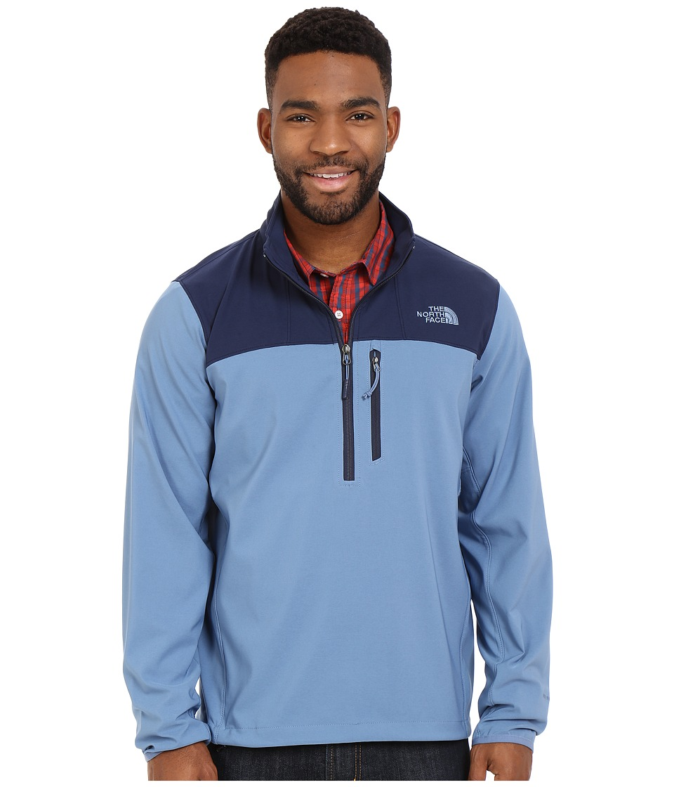 The North Face - Nimble 1/2 Zip Jacket (Moonlight Blue/Cosmic Blue) Men's Long Sleeve Pullover
