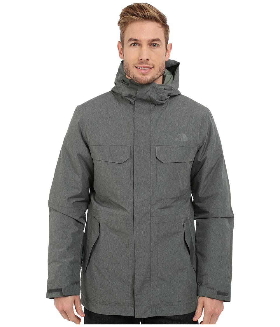 The North Face - Grays Harbor Insulated Parka (Spruce Green Tweed) Men's Coat