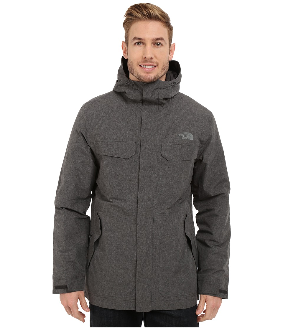The North Face - Grays Harbor Insulated Parka (TNF Dark Grey Heather Tweed) Men's Coat