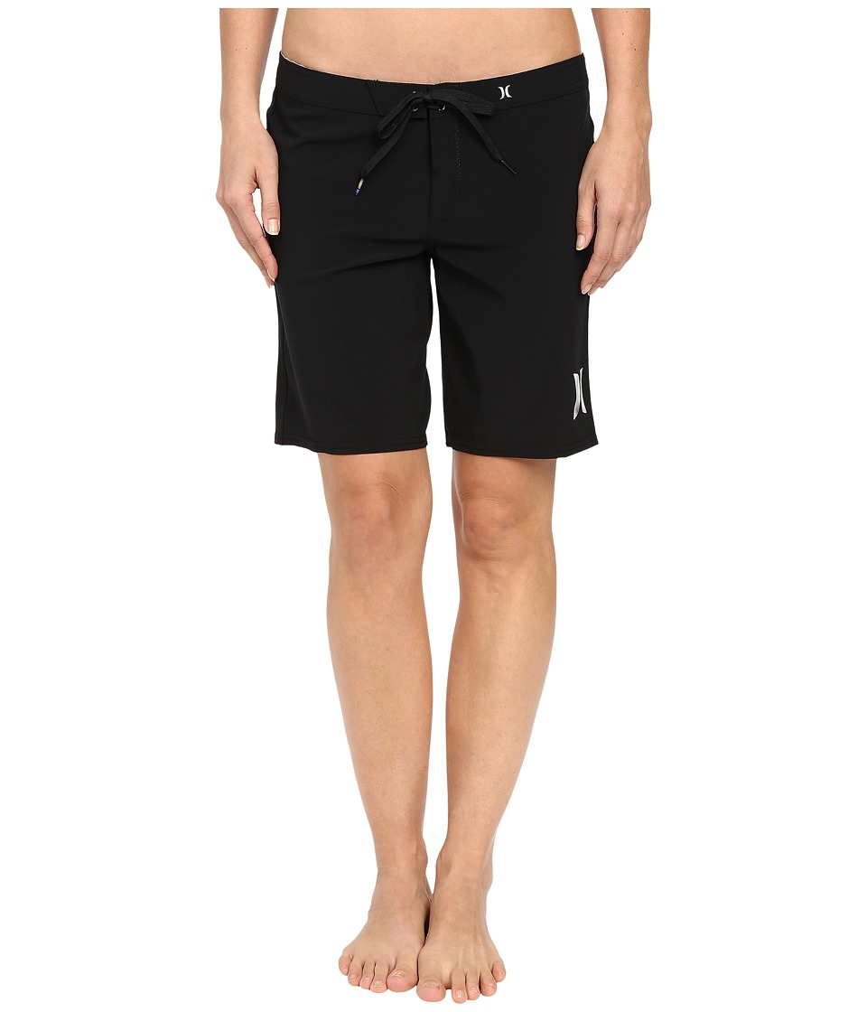 Hurley Phantom Solid 9 Beachrider Boardshorts (Black) Women