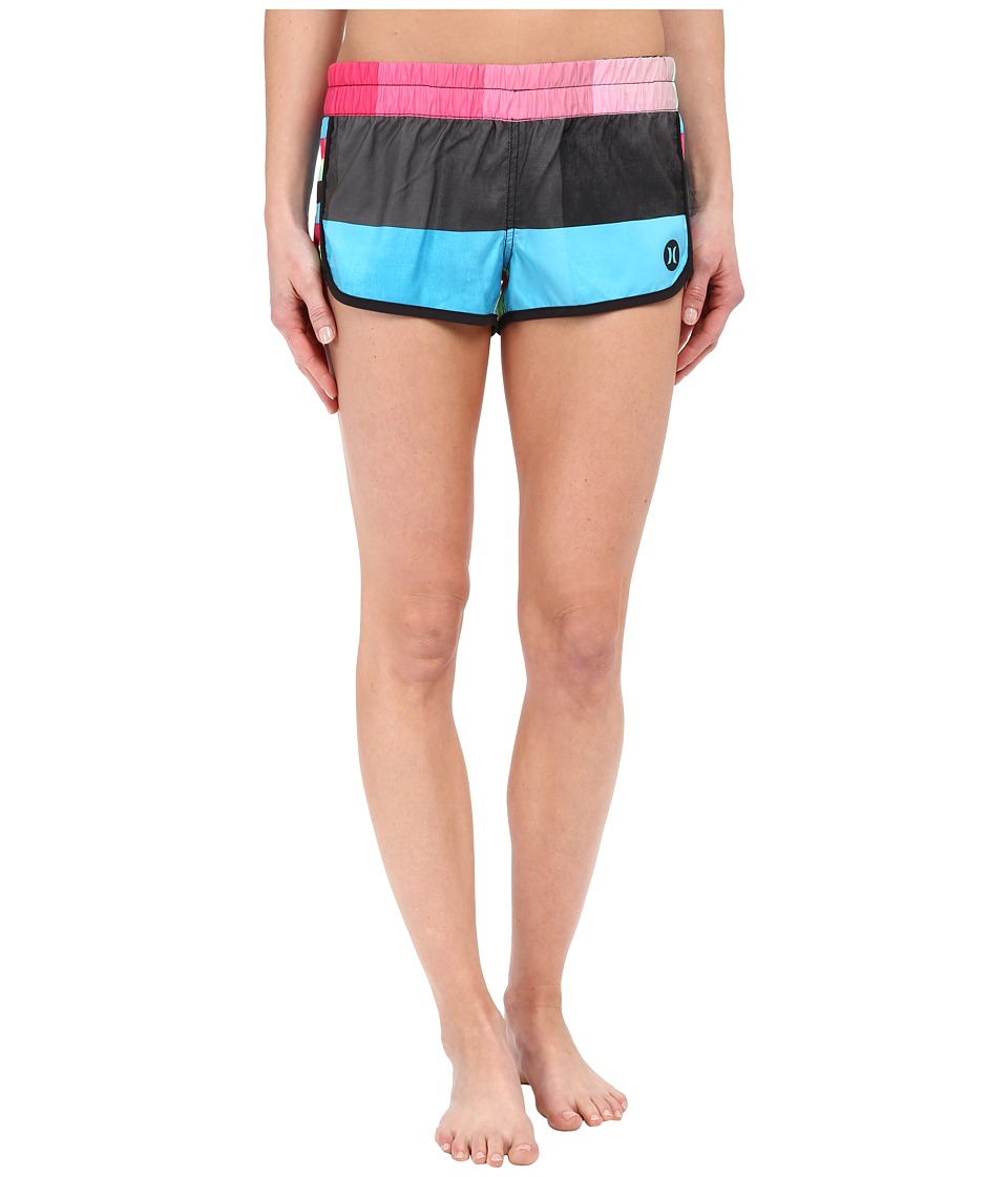 Hurley - Supersuede Printed Beachrider Boardshorts (Multi) Women's Swimwear