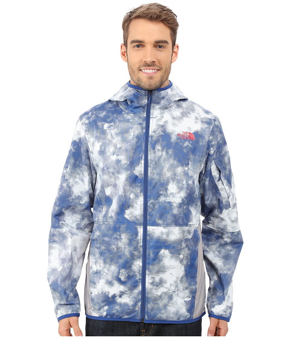 The North Face - Chicago Wind Jacket (Limoges Blue Cirrus Print) Men's Coat