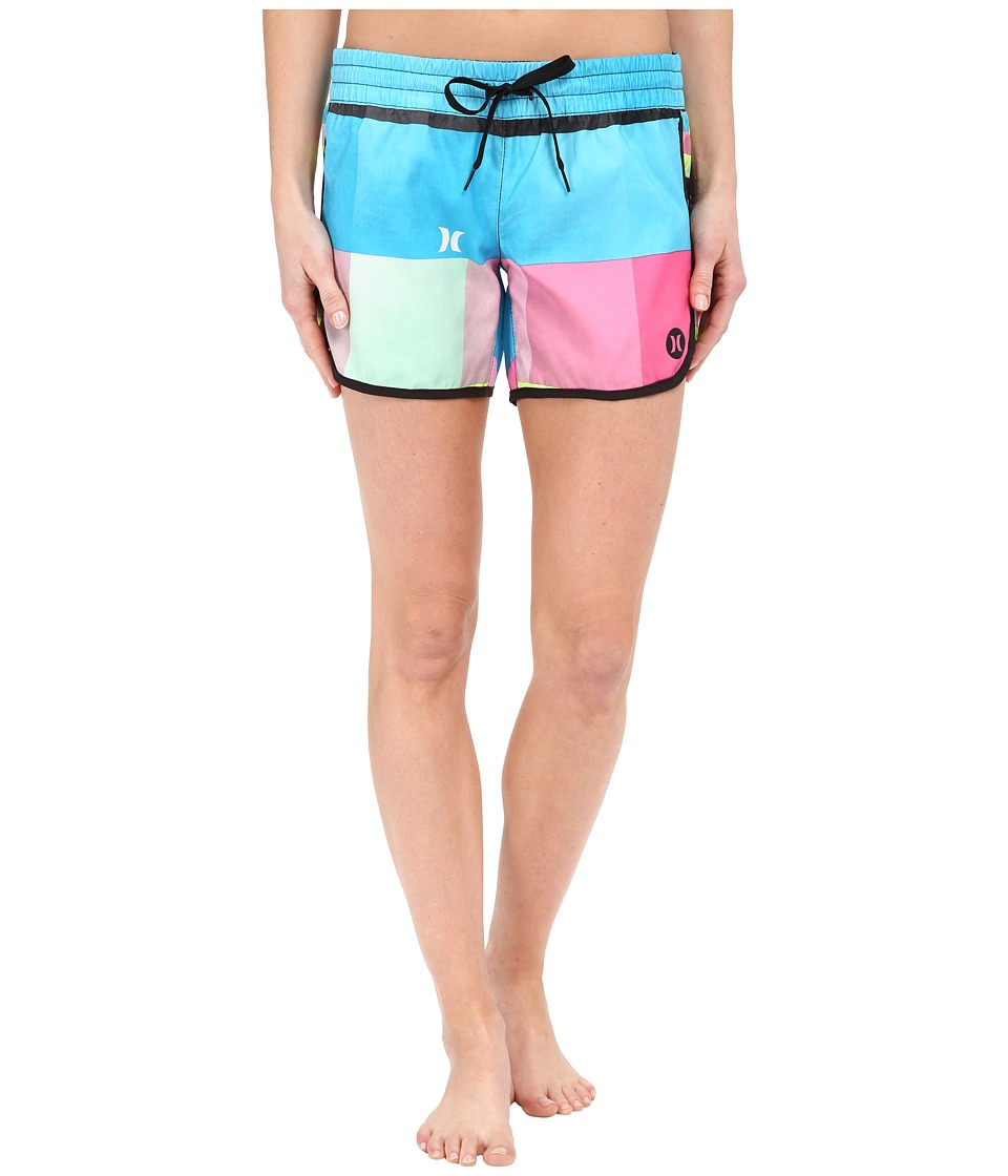 Hurley - Supersuede Printed 5 Beachrider Boardshorts (Multi) Women's Swimwear