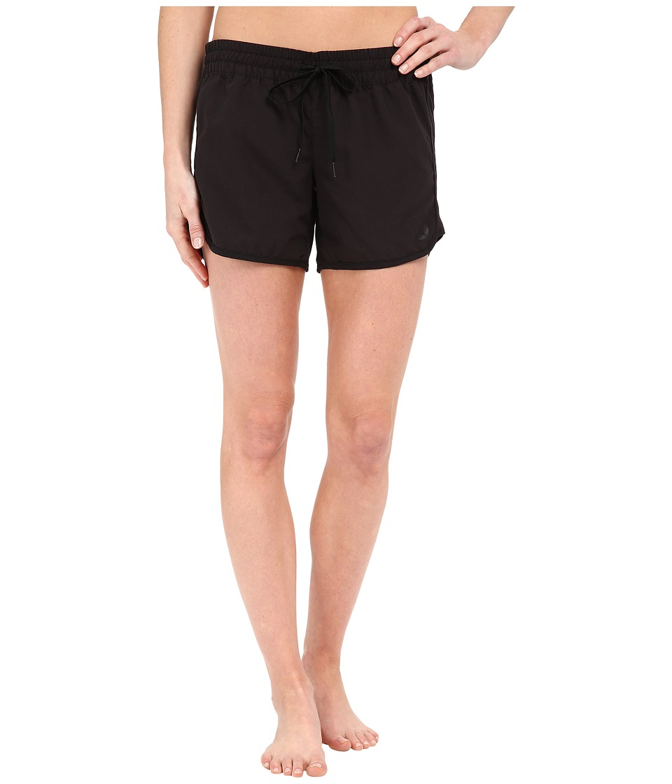Hurley - Supersuede Solid 5 Beachrider Boardshorts (Black) Women's Swimwear