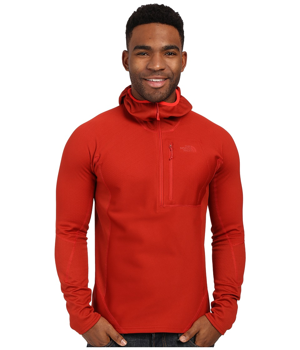 The North Face - FuseForm Dolomiti 1/4 Zip Hoodie (Pompeian Red Fuse) Men's Sweatshirt