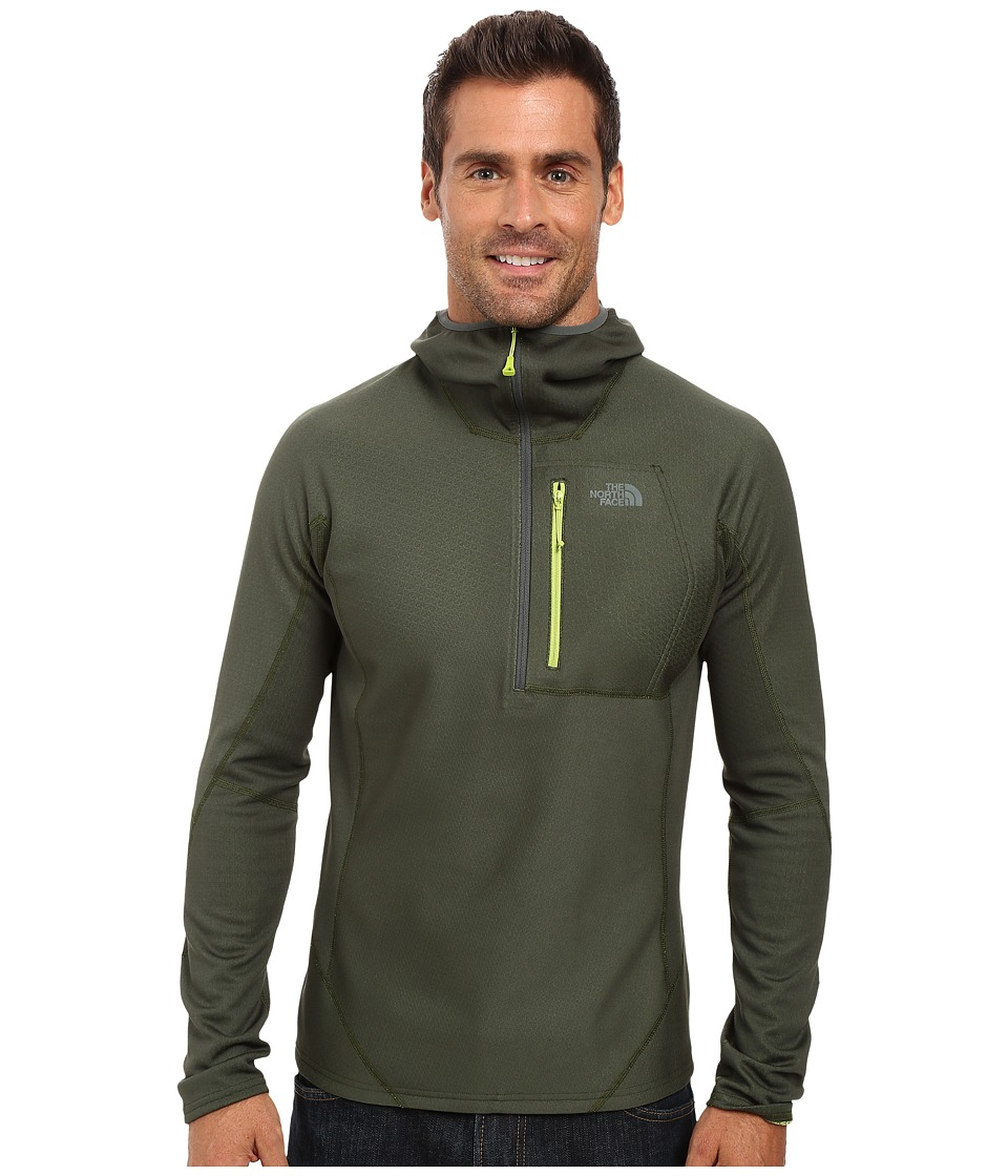 The North Face - FuseForm Dolomiti 1/4 Zip Hoodie (Spurce Green Fuse) Men's Sweatshirt