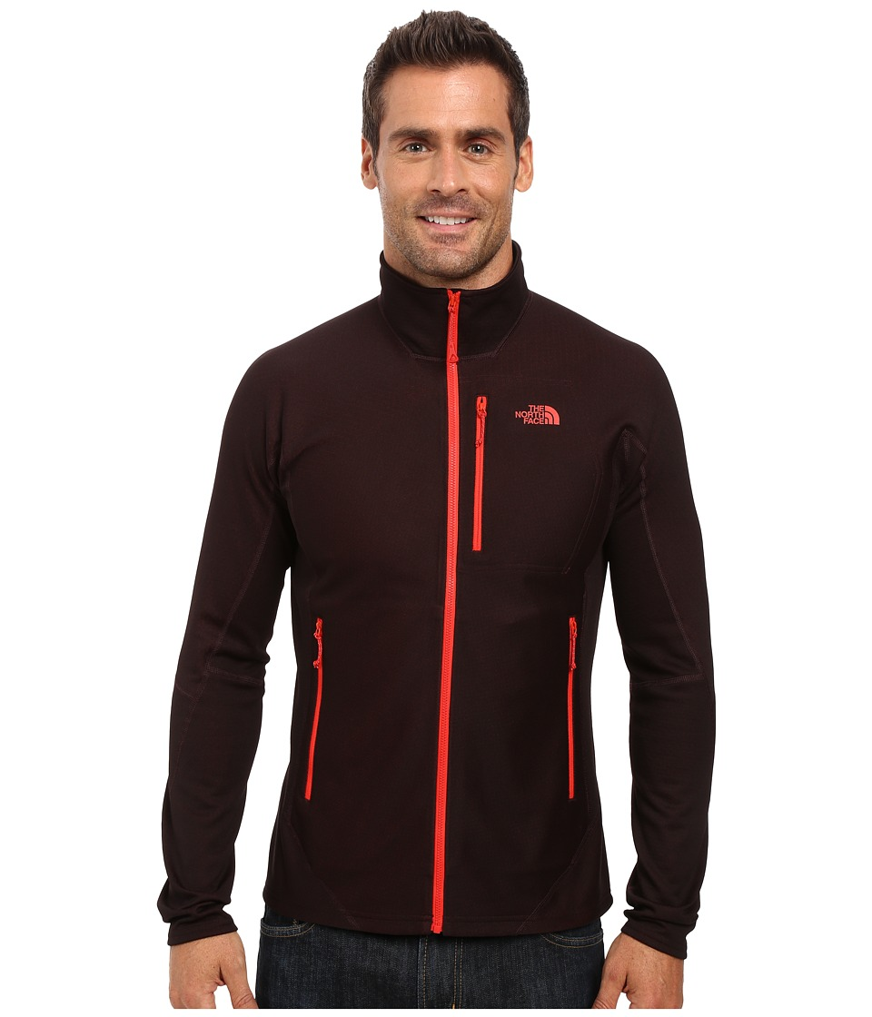 The North Face - FuseForm Dolomiti Full Zip (TNF Black Fuse/Fiery Red) Men's Long Sleeve Pullover