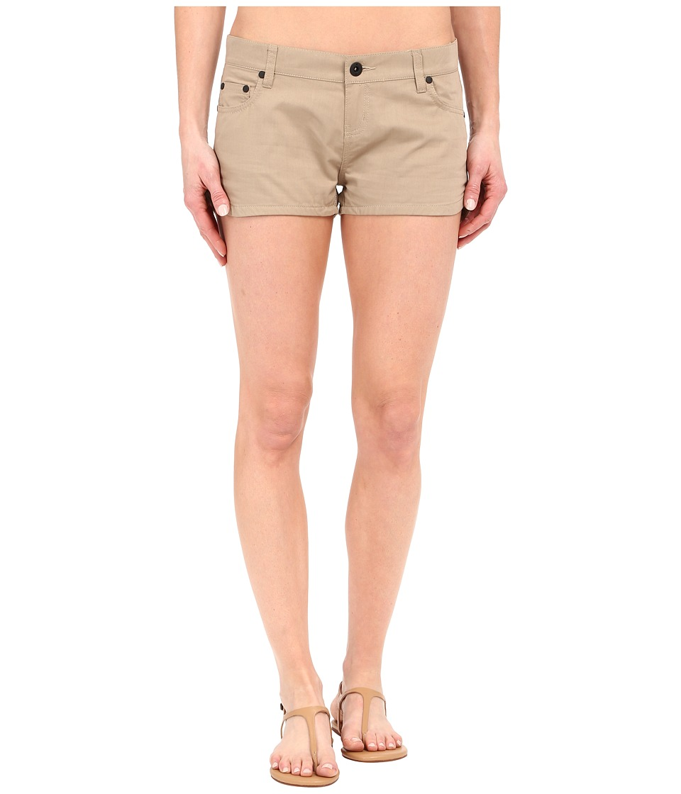 Hurley - Dri-Fit Beachrider Five-Pocket Shorts (Khaki) Women's Shorts