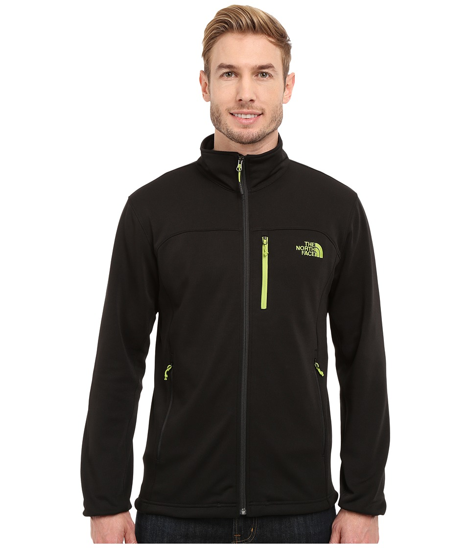 The North Face - Momentum Jacket (TNF Black/TNF Black/Macaw Green) Men's Coat