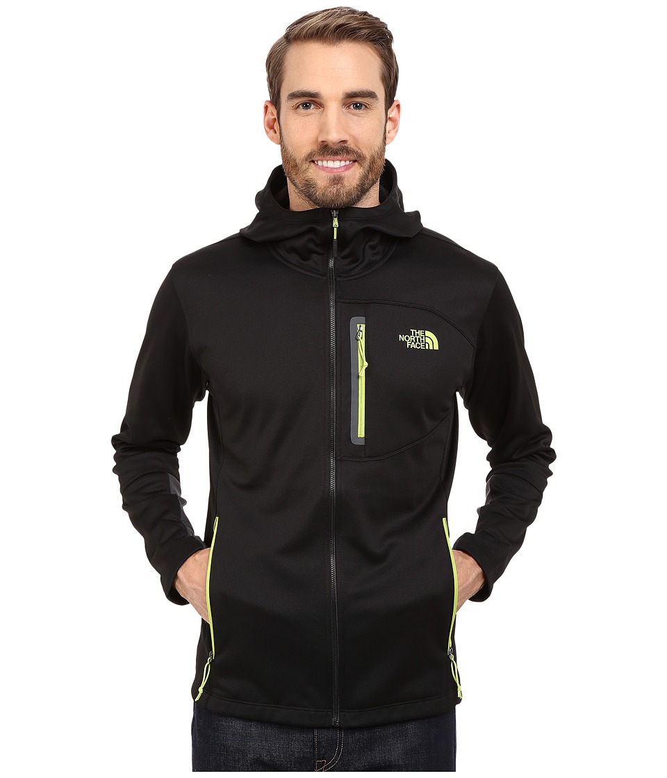 The North Face - Canyonlands Hoodie (TNF Black/Macaw Green) Men's Sweatshirt
