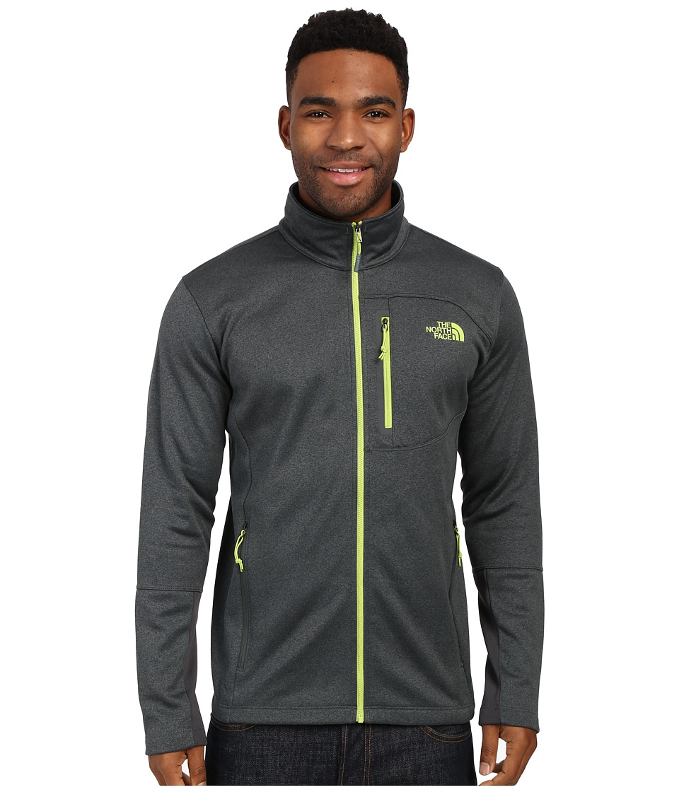The North Face - Canyonlands Full Zip Sweatshirt (Spruce Green Heather/Macaw Green) Men's Coat