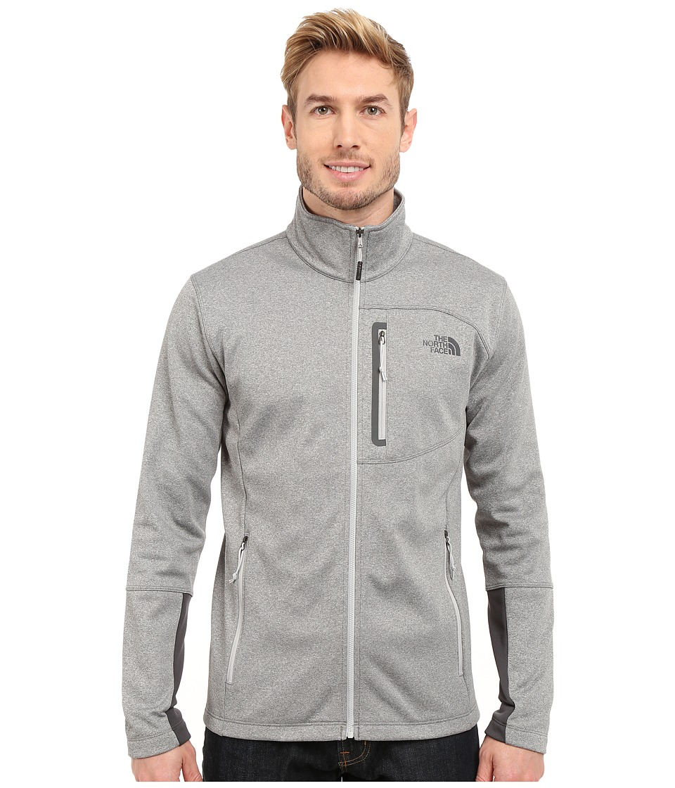 The North Face - Canyonlands Full Zip Sweatshirt (High Rise Grey Heather/Asphalt Grey) Men's Coat
