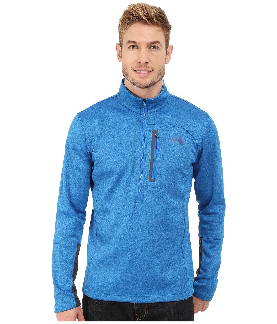 The North Face - Canyonlands 1/2 Zip Pullover (Bomber Blue Heather) Men's Sweatshirt