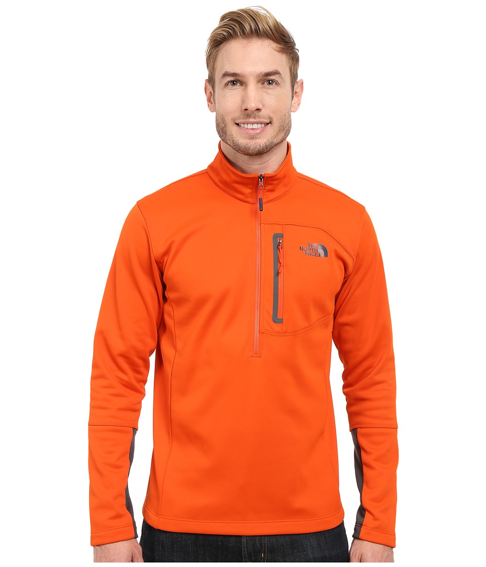 The North Face - Canyonlands 1/2 Zip Pullover (Papaya Orange) Men's Sweatshirt