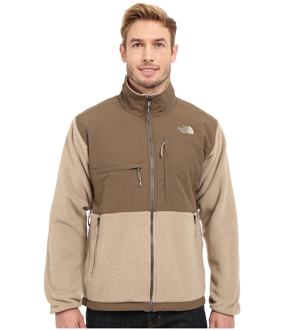 The North Face - Denali Jacket (Recycled Dune Beige Heather/Weimaraner Brown) Men's Coat