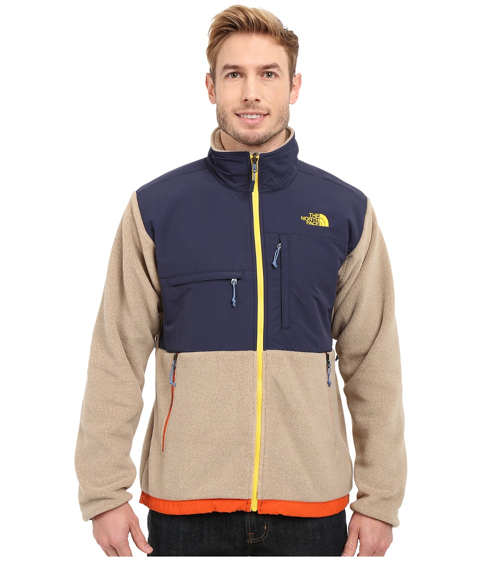 The North Face - Denali Jacket (Recycled Dune Beige Heather/Cosmic Blue) Men's Coat