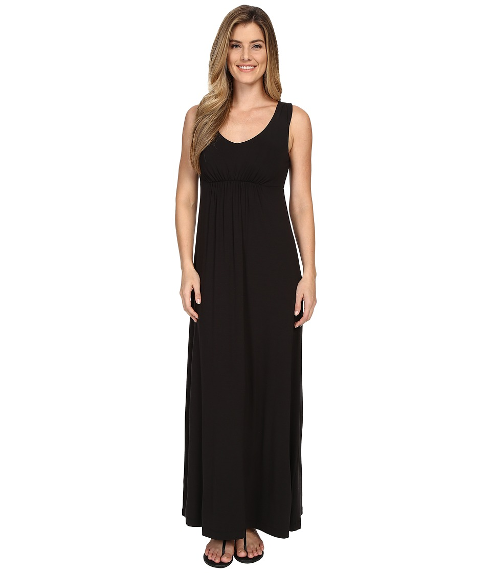Tommy Bahama - Tambour V-Neck Maxi Dress (Black) Women's Dress