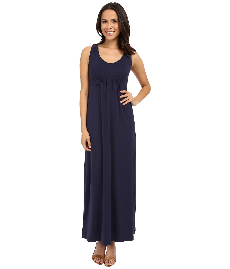 Tommy Bahama - Tambour V-Neck Maxi Dress (Ocean Deep) Women's Dress