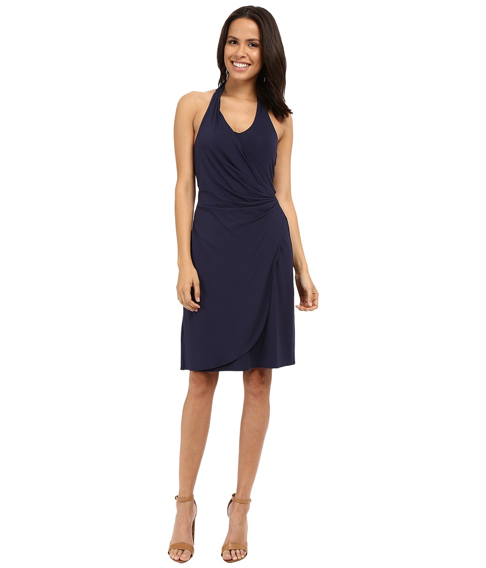 Tommy Bahama - Tambour Shirred Halter Dress (Ocean Deep) Women's Dress