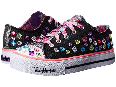 SKECHERS KIDS - Jumping Jewel (Little Kid/Big Kid) (Black) Girls Shoes