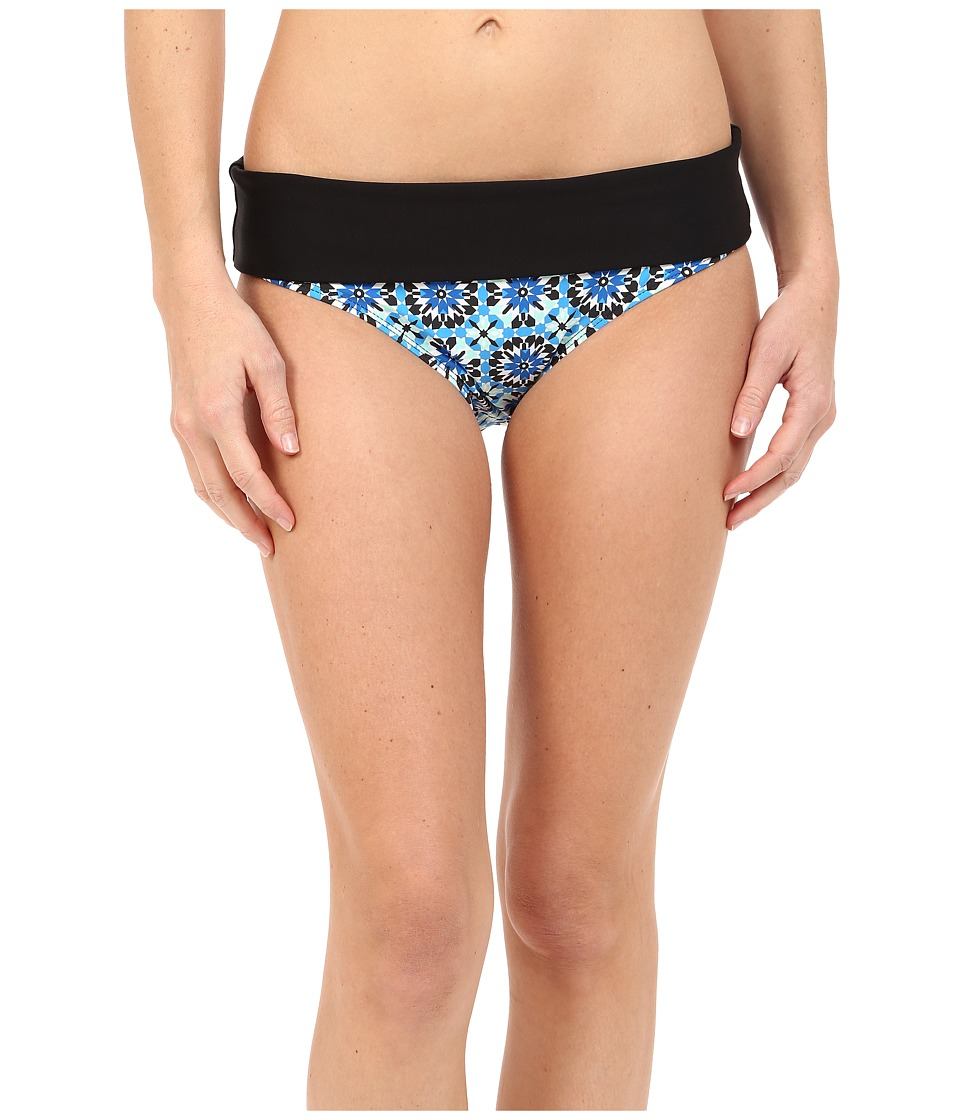 Next by Athena Weekend Warrior Printed Powerhouse Banded Retro Bikini Bottom (Deep Marin) Women