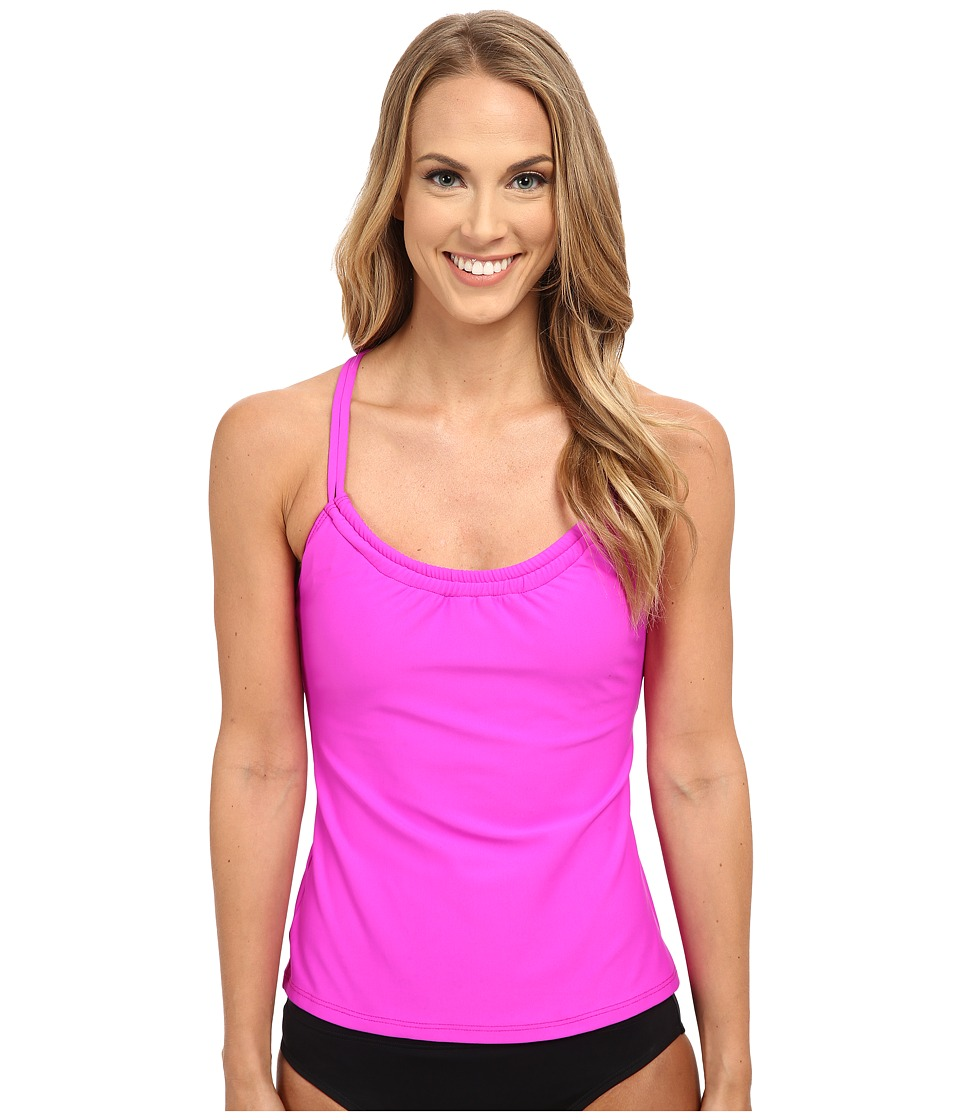 Next by Athena Good Karma Third Eye Rem Soft Cup Shirred Tankini (Berry) Women