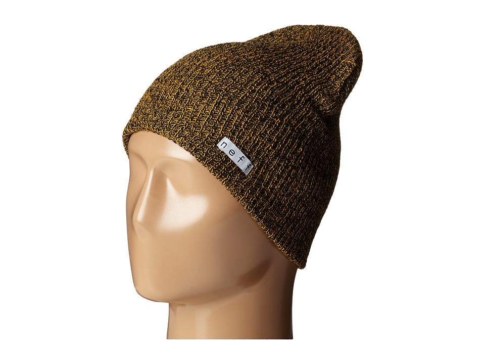Neff - Daily Heather Beanie (Black/Mustard) Beanies