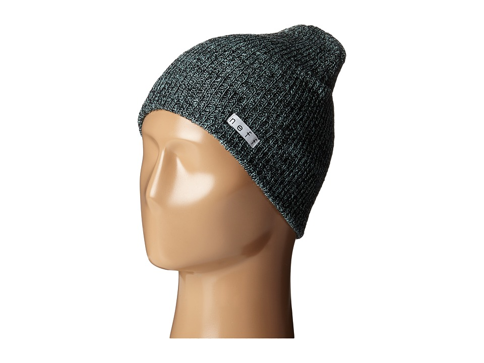 Neff - Daily Heather Beanie (Black/Mint) Beanies