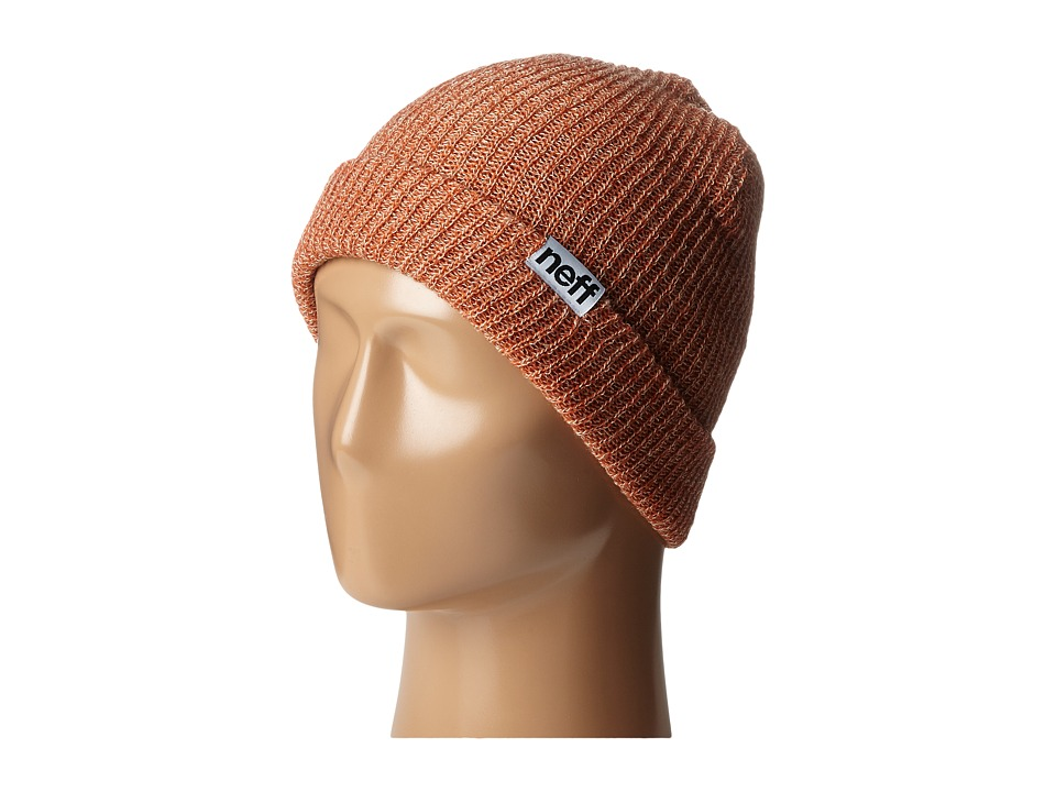 Neff - Fold Heather Beanie (Rust/Khaki) Beanies