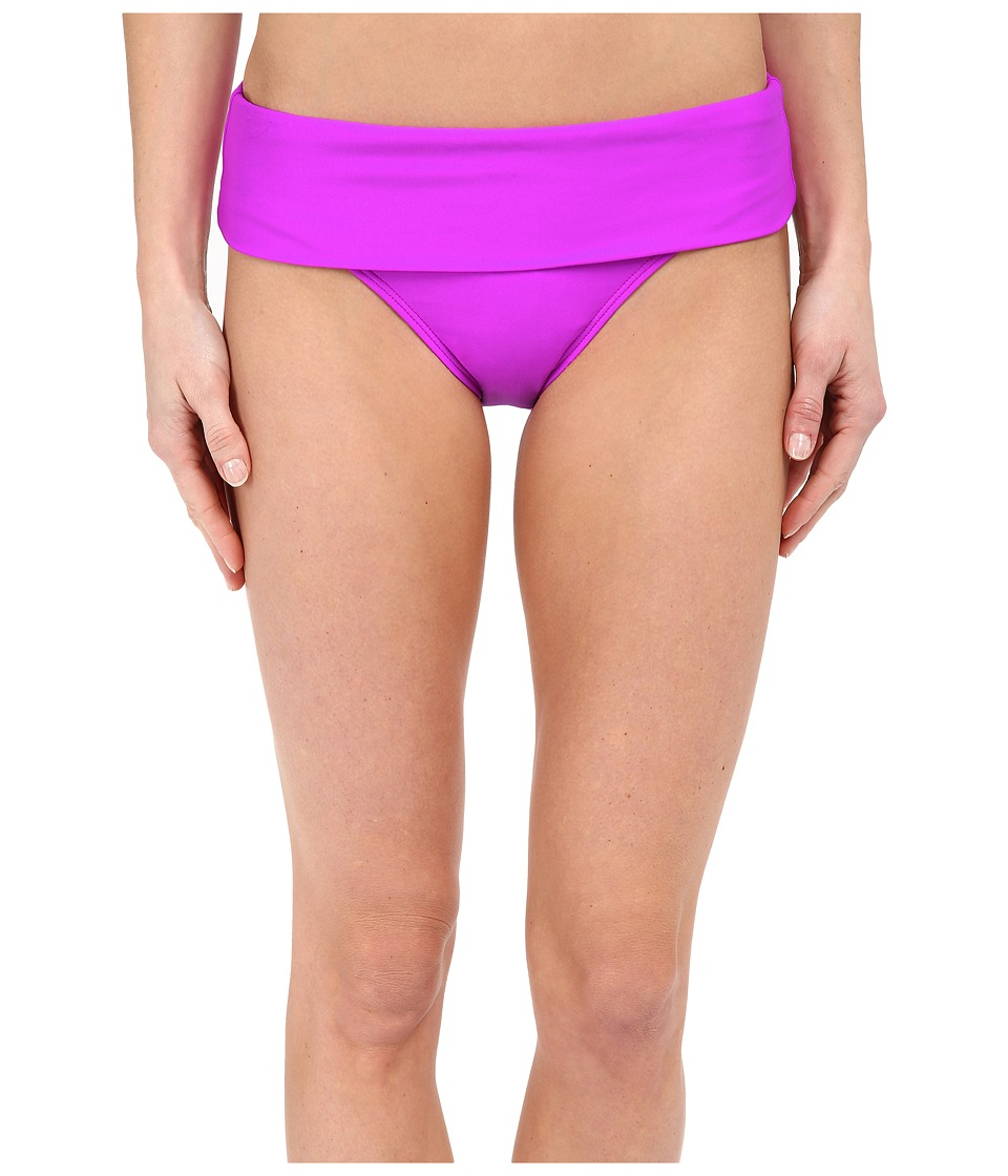 Next by Athena - Good Karma Powerhouse Banded Retro Bikini Bottom (Berry) Women's Swimwear