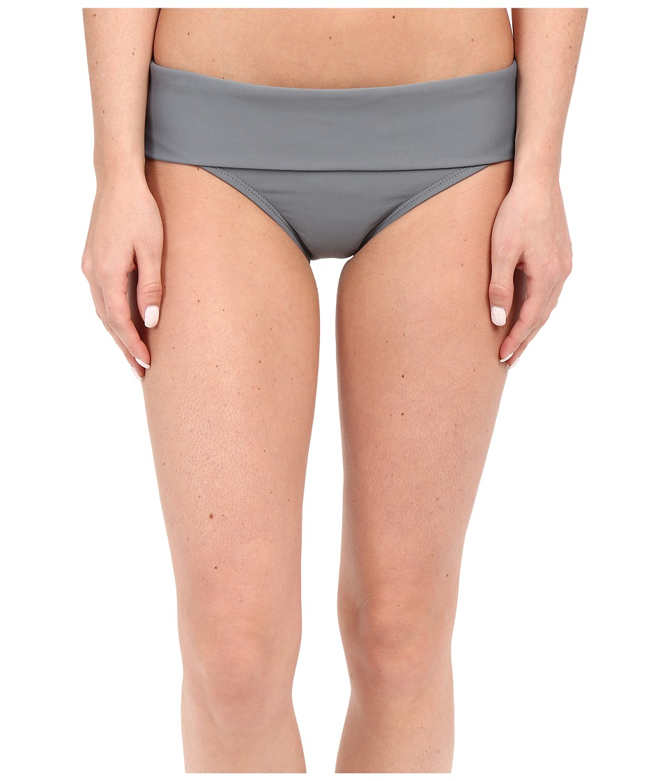 Next by Athena - Good Karma Powerhouse Banded Retro Bikini Bottom (Grey) Women's Swimwear
