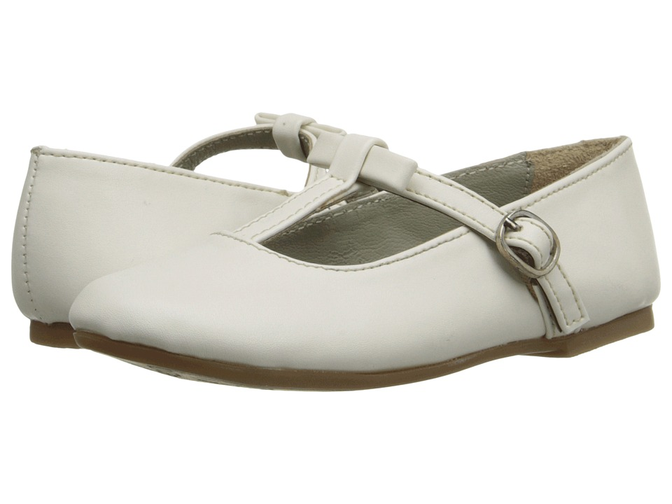 Pazitos - T-Bow MJ PU (Little Kid) (Ivory) Girls Shoes