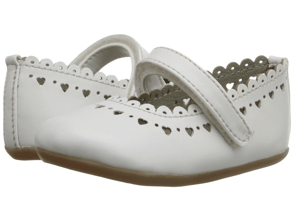 Pazitos - New Scallop MJ PU (Toddler) (White) Girls Shoes