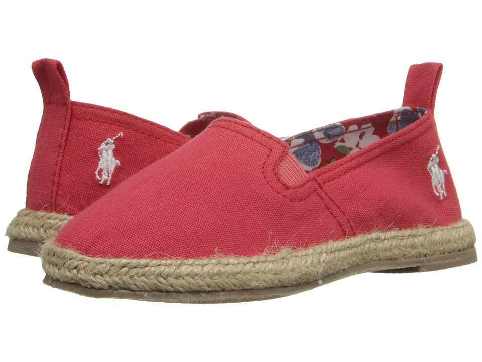 Polo Ralph Lauren Kids - Beakon (Toddler) (Red Canvas) Girls Shoes