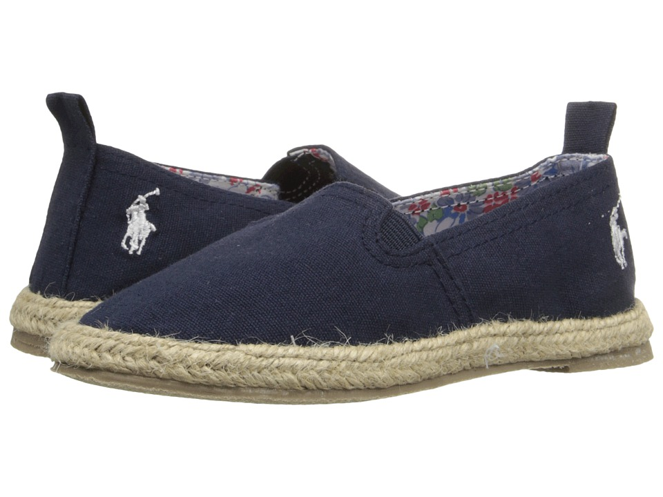 Polo Ralph Lauren Kids - Beakon (Toddler) (Navy Canvas) Girls Shoes