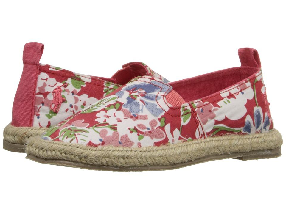 Polo Ralph Lauren Kids - Beakon (Toddler) (Coral Mini Floral) Girls Shoes