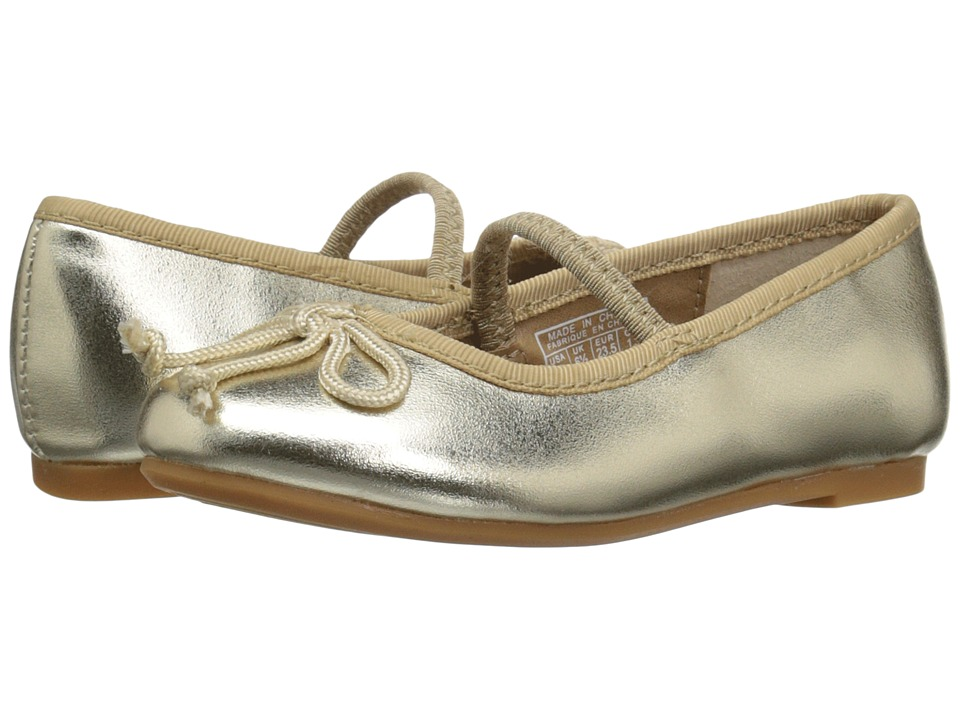 Polo Ralph Lauren Kids - Nellie (Toddler) (Champagne Metallic) Girls Shoes