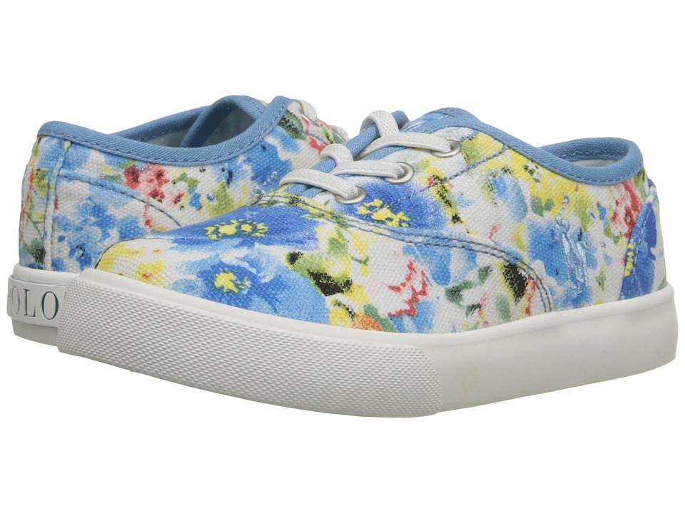 Polo Ralph Lauren Kids - Vali Gore (Toddler) (Blue Floral) Girls Shoes
