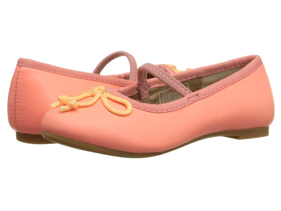 Polo Ralph Lauren Kids - Nellie (Toddler) (Neon Melon Leather) Girls Shoes