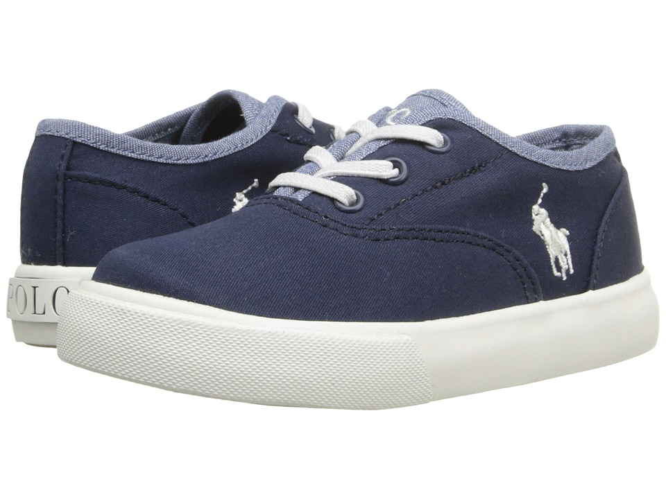 Polo Ralph Lauren Kids - Vali Gore (Toddler) (Navy Chino/Blue Chambray) Girls Shoes