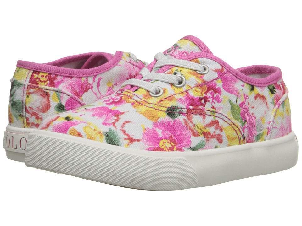 Polo Ralph Lauren Kids - Vali Gore (Toddler) (Pink Floral) Girls Shoes