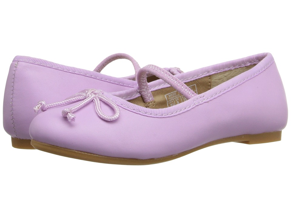 Polo Ralph Lauren Kids - Nellie (Toddler) (Orchid Leather) Girls Shoes