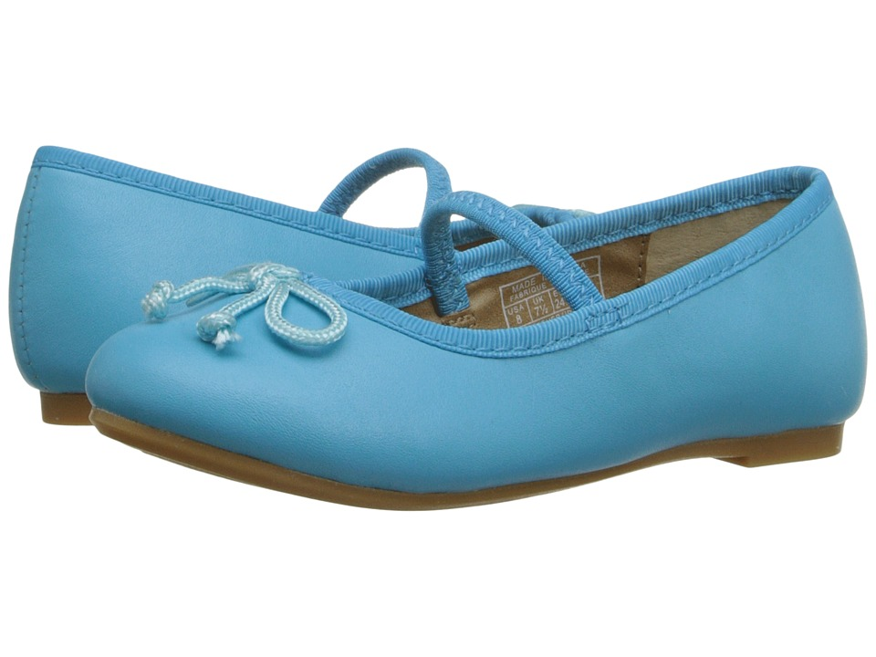 Polo Ralph Lauren Kids - Nellie (Toddler) (Turquoise Leather) Girls Shoes