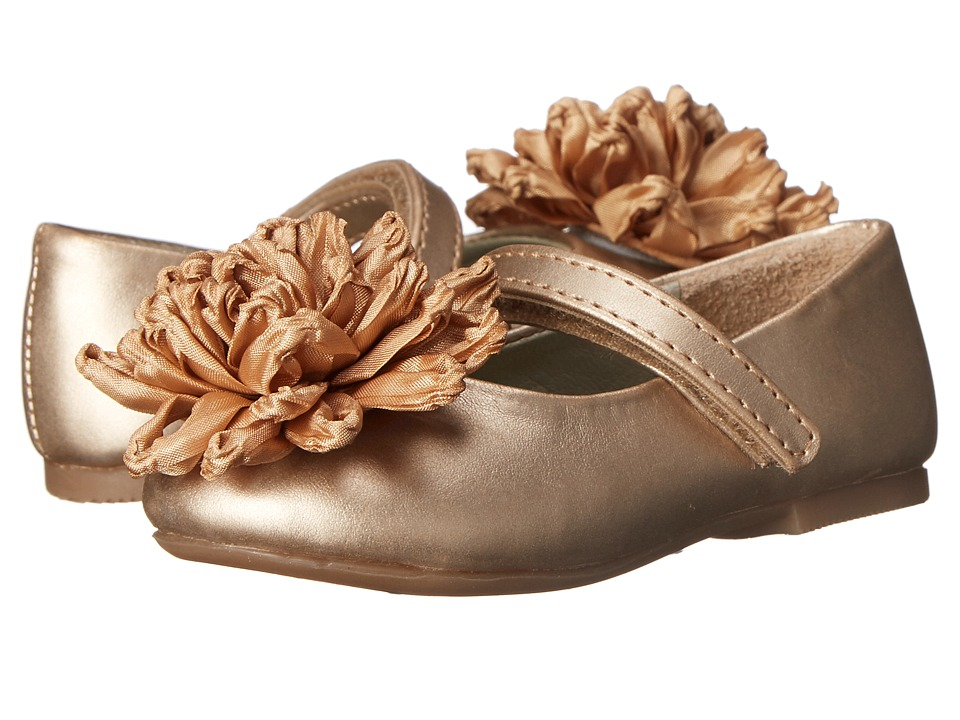 Pazitos - Dalia MJ PU (Toddler) (Champagne) Girls Shoes