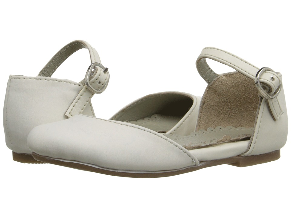 Pazitos - Dorsey MJ PU (Toddler/Little Kid/Big Kid) (Ivory) Girls Shoes