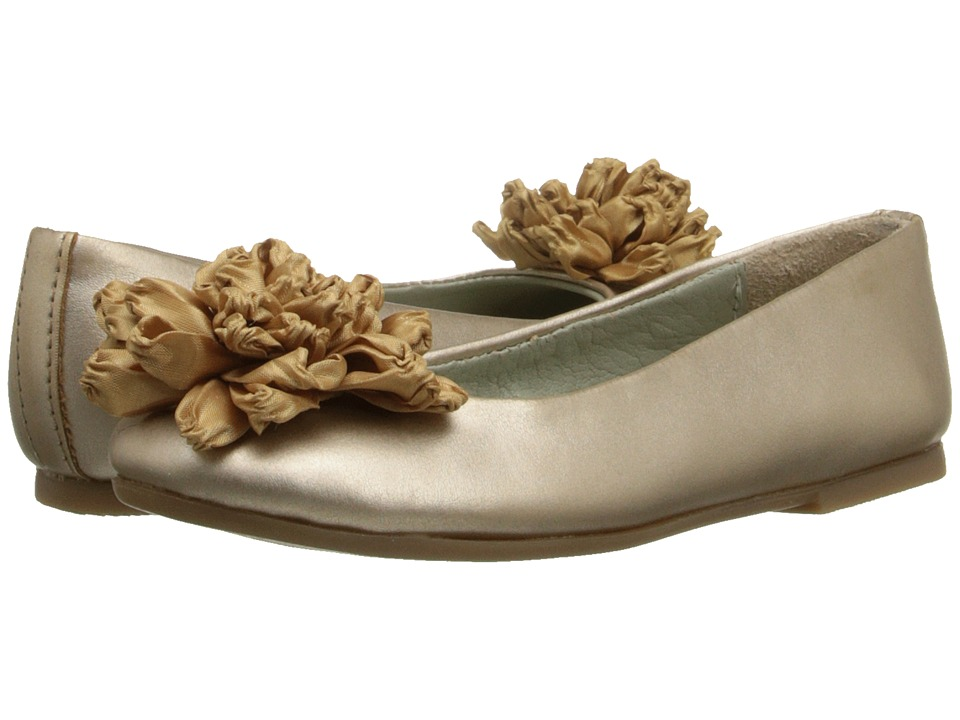 Pazitos - Dalia BF PU (Little Kid/Big Kid) (Champagne) Girls Shoes